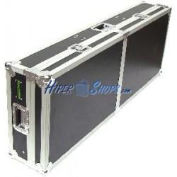 Mesa DJ tipo cofre para 2 giradiscos y mezclador rack de RackMatic