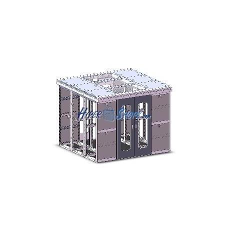Datacenter módulo central 2x42U 800x1000 lateral de RackMatic