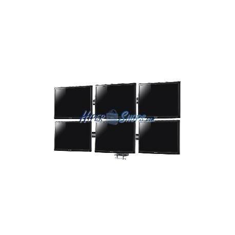 """Soporte de 6 pantallas 21"""" de TV para sobremesa y con peana VESA 75 100 modelo ML1006"""