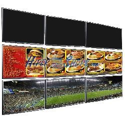 Soporte TV videowall horizontal a pared de 36cm