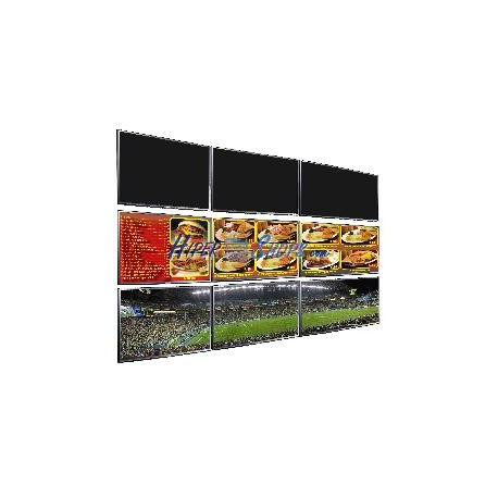 Soporte TV videowall horizontal a pared de 86cm