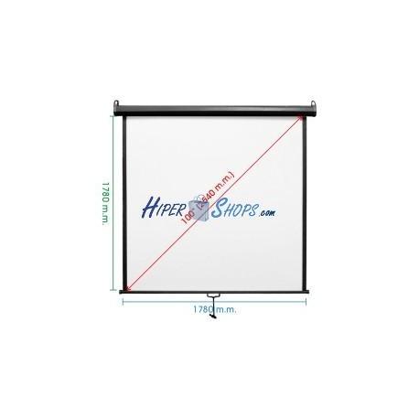 Pantalla de proyección de pared negra 1720x1780mm 1:1 DisplayMATIC