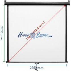 Pantalla de proyección de pared negra 2690x2750mm 1:1 DisplayMATIC