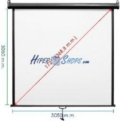 Pantalla de proyección de pared negra 2950x3050mm 1:1 DisplayMATIC
