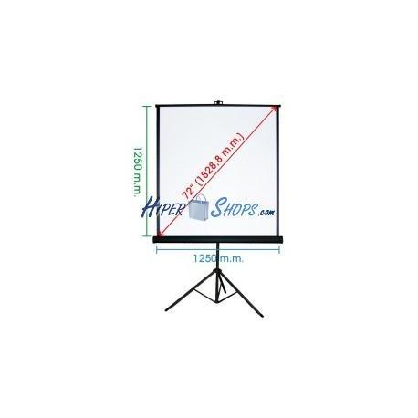 Pantalla de proyección con trípode de 1210x1270mm 1:1 DisplayMATIC