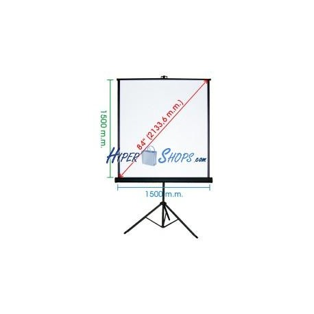 Pantalla de proyección con trípode de 1460x1520mm 1:1 DisplayMATIC