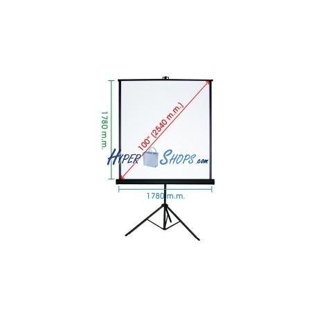 Pantalla de proyección con trípode de 1720x1780mm 1:1 DisplayMATIC