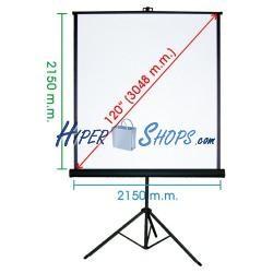 Pantalla de proyección con trípode de 2070x2130mm 1:1 DisplayMATIC