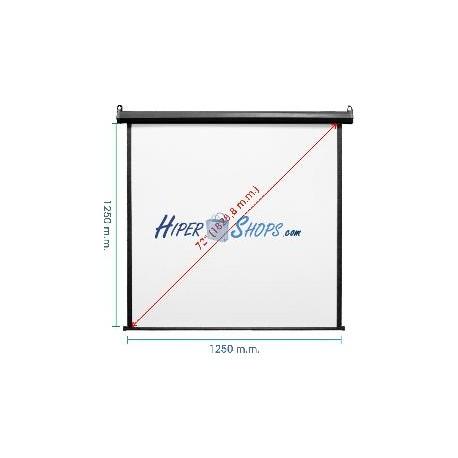 Pantalla de proyección motorizada pared negra de 1210x1270mm 1:1 DisplayMATIC