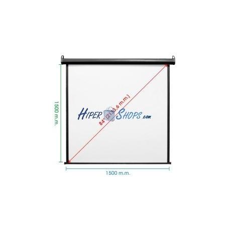 Pantalla de proyección motorizada pared negra de 1460x1520mm 1:1 DisplayMATIC