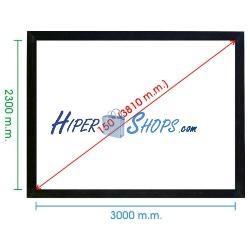 Pantalla de proyección fija pared de 3050x2280mm 4:3 DisplayMATIC