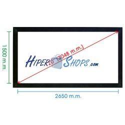Pantalla de proyección fija pared de 2650x1500mm 16:9 DisplayMATIC