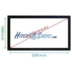 Pantalla de proyección fija pared de 3320x1870mm 16:9 DisplayMATIC
