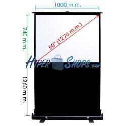 Pantalla de proyección portátil de 1015x760mm 4:3 DisplayMATIC