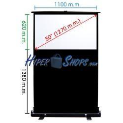 Pantalla de proyección portátil de 1100x620mm 16:9 DisplayMATIC