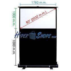 Pantalla de proyección portátil de 1770x1000mm 16:9 DisplayMATIC