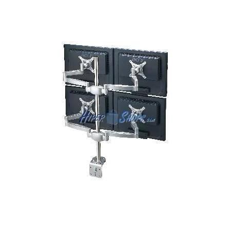 Brazo articulado con mástil para 4 pantallas LCD VESA75 VESA100 modelo MD1004