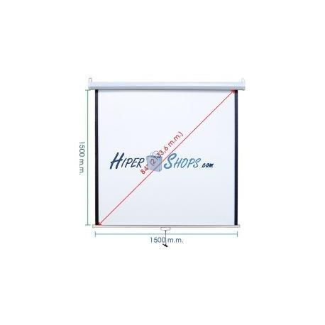 Pantalla de proyección de pared blanca 1460x1520mm 1:1 DisplayMATIC