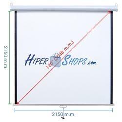 Pantalla de proyección de pared blanca 2070x2130mm 1:1 DisplayMATIC