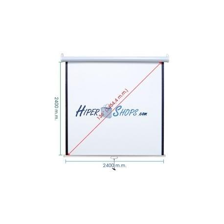 Pantalla de proyección de pared blanca 2380x2440mm 1:1 DisplayMATIC