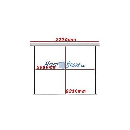 Pantalla de proyección motorizada pared blanca de 2950x2210mm 1:1 DisplayMATIC