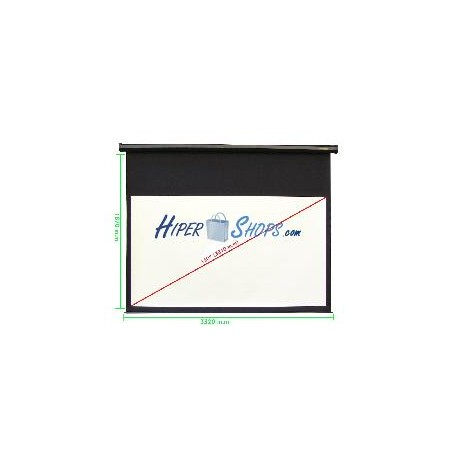 Pantalla de proyección de pared negra 3220x1810mm 16:9 DisplayMATIC
