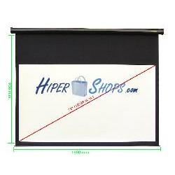 Pantalla de proyección motorizada pared negra de 1780x1000mm 16:9 DisplayMATIC