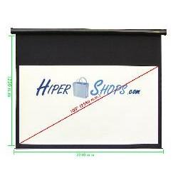 Pantalla de proyección motorizada pared negra de 2550x1435mm 16:9 DisplayMATIC