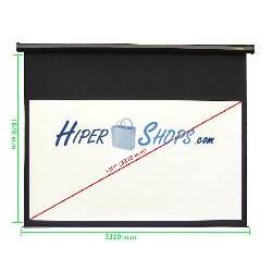 Pantalla de proyección motorizada pared negra de 3220x1810mm 16:9 DisplayMATIC