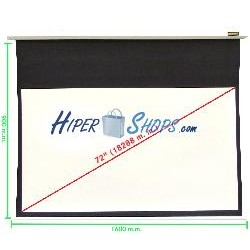 Pantalla de proyección motorizada pared blanca de 1520x855mm 16:9 DisplayMATIC
