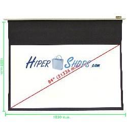 Pantalla de proyección motorizada pared blanca de 1780x1000mm 16:9 DisplayMATIC