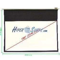 Pantalla de proyección motorizada pared blanca de 2110x1190mm 16:9 DisplayMATIC