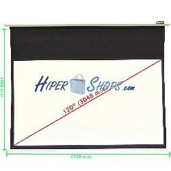 Pantalla de proyección motorizada pared blanca de 2550x1435mm 16:9 DisplayMATIC