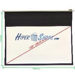 Pantalla de proyección motorizada pared blanca de 3220x1810mm 16:9 DisplayMATIC