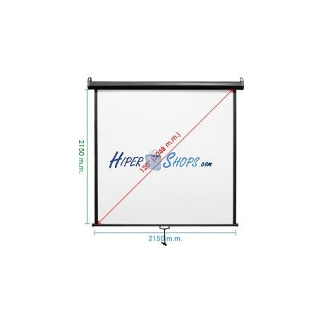 Pantalla de proyección de pared negra 2070x2130mm 1:1 fibra de vidrio DisplayMATIC PRO