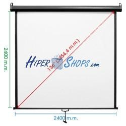 Pantalla de proyección de pared negra 2380x2440mm 1:1 fibra de vidrio DisplayMATIC PRO