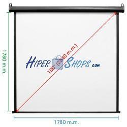 Pantalla de proyección motorizada pared negra de fibra de vidrio 1720x1780mm 1:1 DisplayMATIC PRO