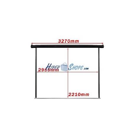 Pantalla de proyección motorizada pared negra de fibra de vidrio 2950x2210mm 1:1 DisplayMATIC PRO