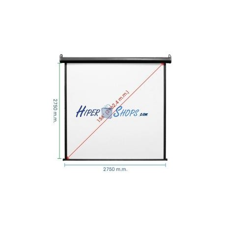 Pantalla de proyección motorizada pared negra de fibra de vidrio 2690x2750mm 1:1 DisplayMATIC PRO