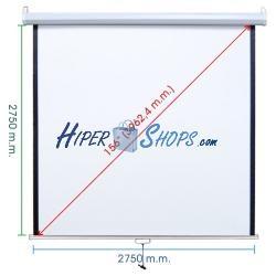 Pantalla de proyección de pared blanca 2690x2750mm 1:1 fibra de vidrio DisplayMATIC PRO