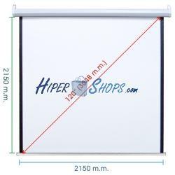 Pantalla de proyección motorizada pared blanca de fibra de vidrio 2070x2130mm 1:1 DisplayMATIC PRO