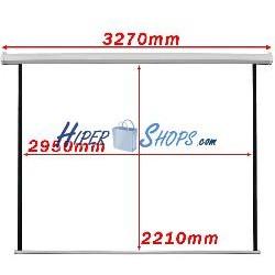 Pantalla de proyección motorizada pared blanca de fibra de vidrio 2950x2210mm 1:1 DisplayMATIC PRO