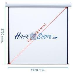 Pantalla de proyección motorizada pared blanca de fibra de vidrio 2690x2750mm 1:1 DisplayMATIC PRO