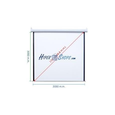 Pantalla de proyección motorizada pared blanca de fibra de vidrio 2950x3050mm 1:1 DisplayMATIC PRO