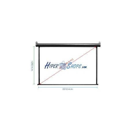Pantalla de proyección de pared negra 2110x1190mm 16:9 fibra de vidrio DisplayMATIC PRO