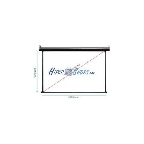 Pantalla de proyección de pared negra 3220x1810mm 16:9 fibra de vidrio DisplayMATIC PRO