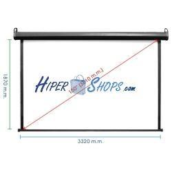 Pantalla de proyección motorizada pared negra de fibra de vidrio 3220x1810mm 16:9 DisplayMATIC PRO
