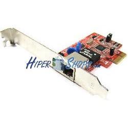 Tarjeta PCI-Express Ethernet Gigabit 10/100/1000Base-TX (1xRJ45)