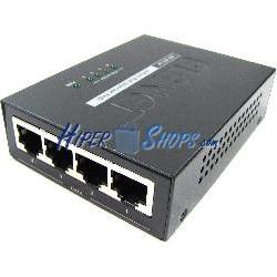 PoE Inyector Hub IEEE802.3af 10/100 Mbps 4-Port