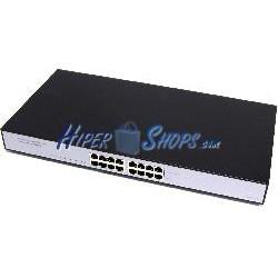 PoE Injector Hub IEEE802.3af 10/100/1000 Mbps 8-Port Rack 19